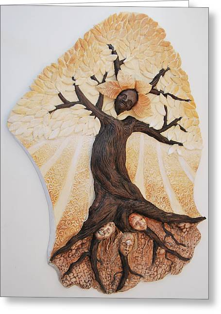 Rooted In Women Greeting Card by Janet Knocke