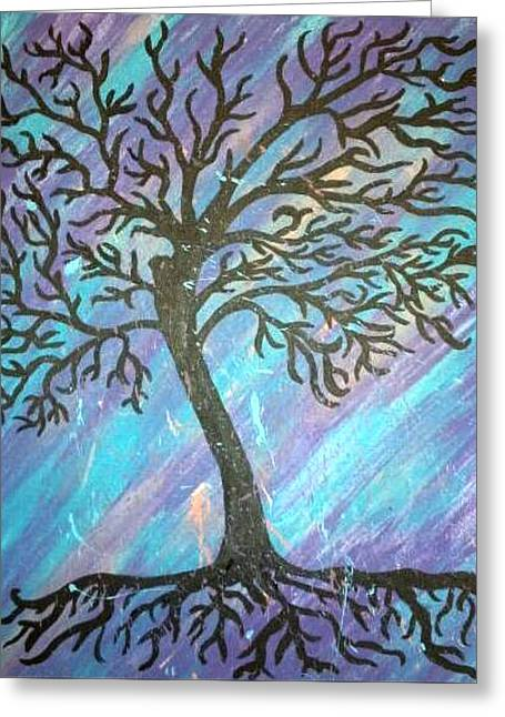 Roots To A New Beginning Greeting Card by Alisha Harrison