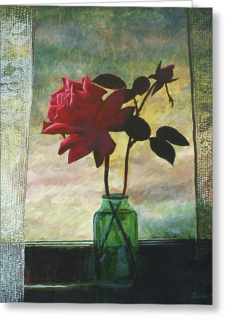 Rose And Rosebud Greeting Card
