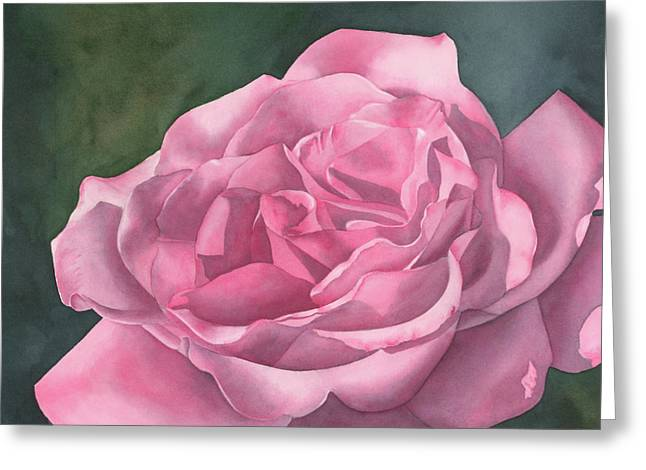 Rose Blush Greeting Card by Leona Jones