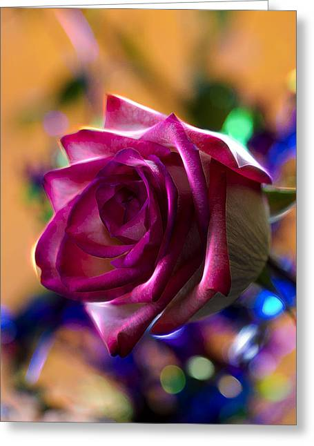 Rose Celebration Greeting Card by Bill Tiepelman