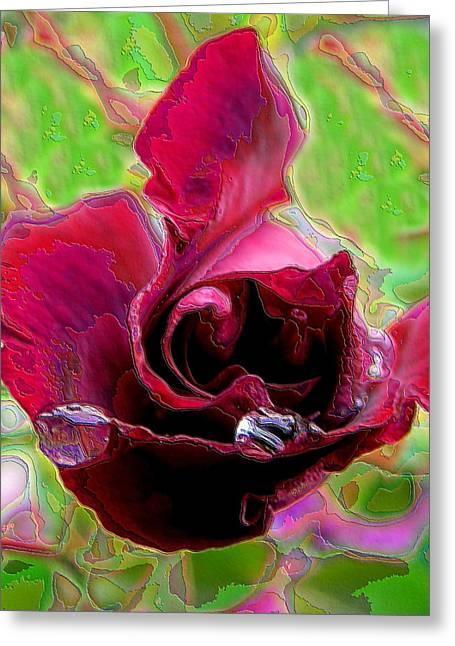 Rose Contours Greeting Card