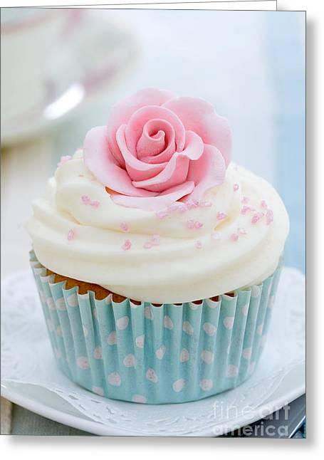 Rose Cupcake Greeting Card
