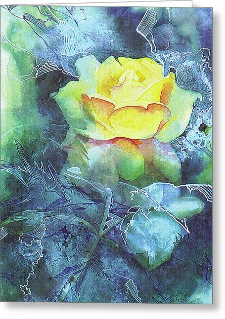 Rose Greeting Card by Eunice Olson