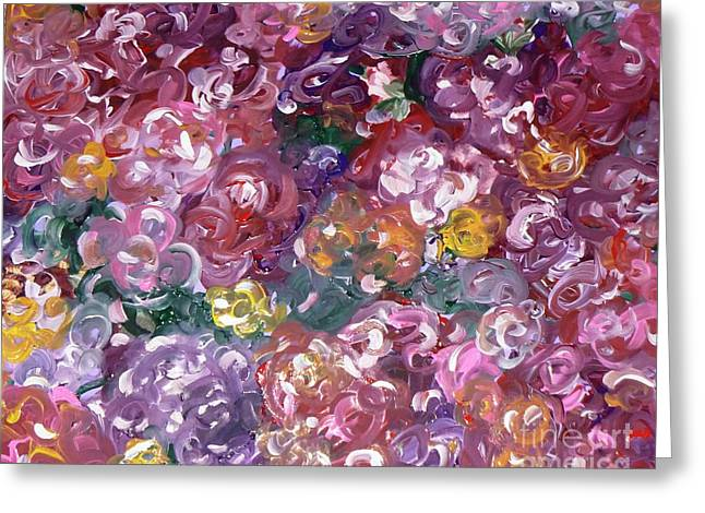 Greeting Card featuring the painting Rose Festival by Alys Caviness-Gober