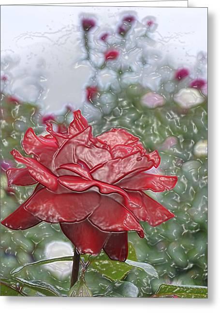 Rose Forever Greeting Card by Vijay Sharon Govender