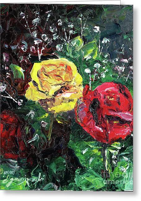 Rose From The Grey Greeting Card by David Ignaszewski