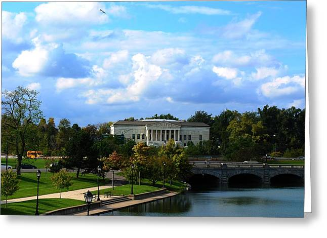 Greeting Card featuring the photograph Rose Garden And Hoyt Lake by Michael Frank Jr
