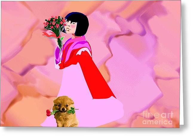 Rose  Petals Greeting Card by Belinda Threeths
