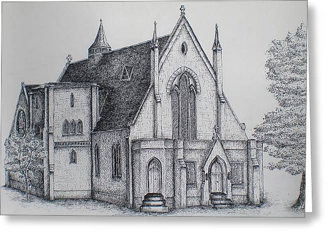 Rosemount Parish Church Greeting Card by Sheep McTavish