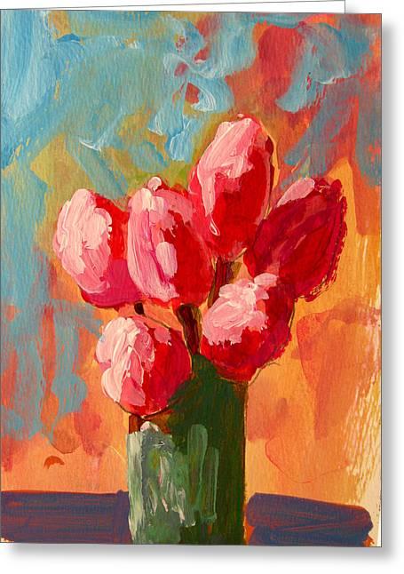 Roses Are Pink Greeting Card by Patricia Awapara