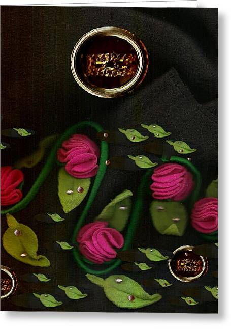 Roses From The Flamenco Scene Greeting Card by Pepita Selles