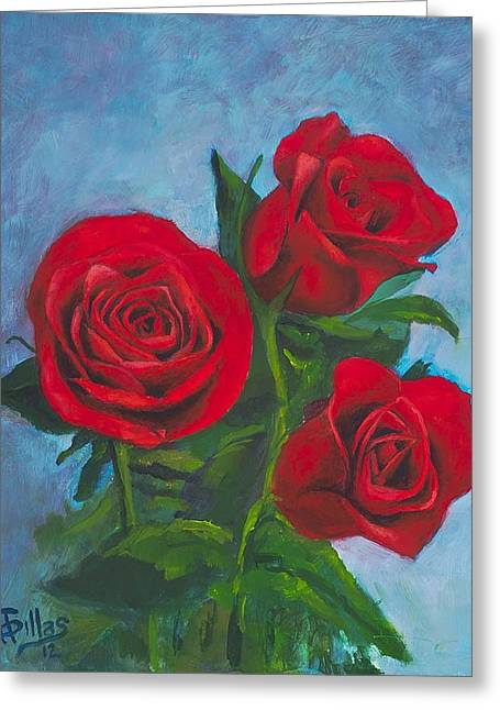 Roses Greeting Card by Herman Sillas