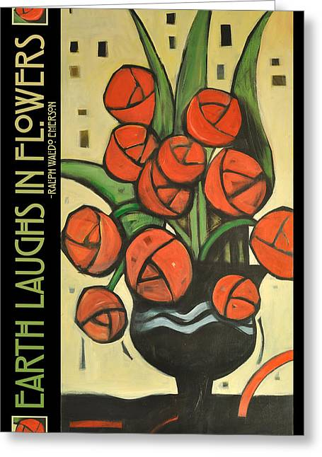 Roses In Vase Poster Greeting Card by Tim Nyberg