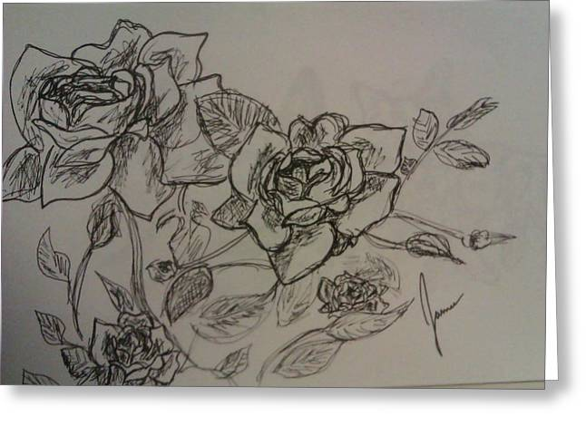 Roses Greeting Card by Jamie Mah