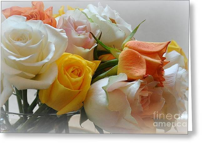 Roses Greeting Card by Tanya  Searcy