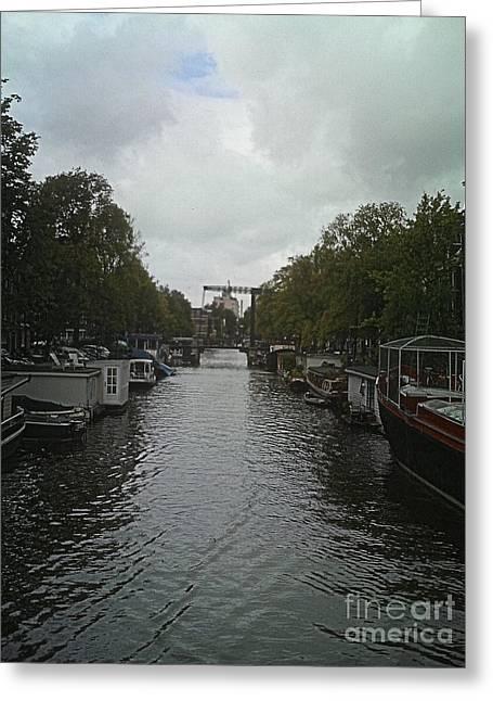 Rotterdam Canal Greeting Card by Jennifer Sabir