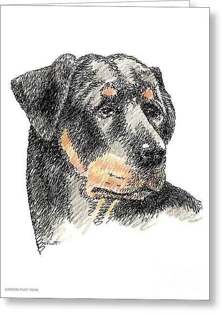 Rottweiler-artwork Greeting Card