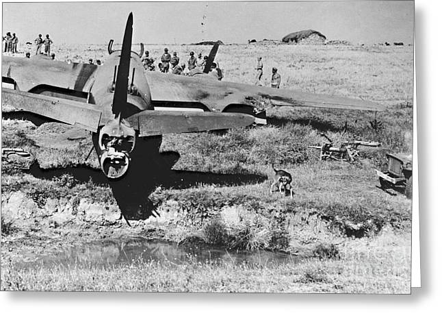 Rough Landing 1943 Greeting Card by Padre Art