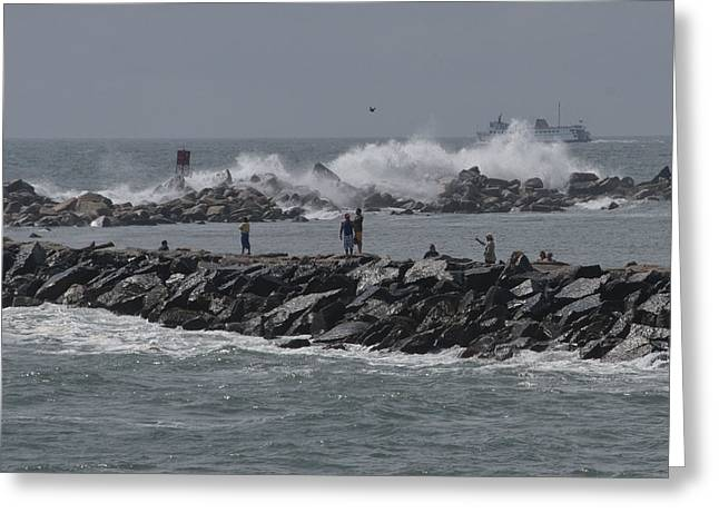 Rough Seas To Block Island Greeting Card