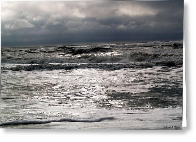 Rough Waves 3 Greeting Card by Deborah Hughes