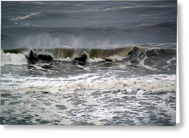 Rough Waves 4 Greeting Card by Deborah Hughes
