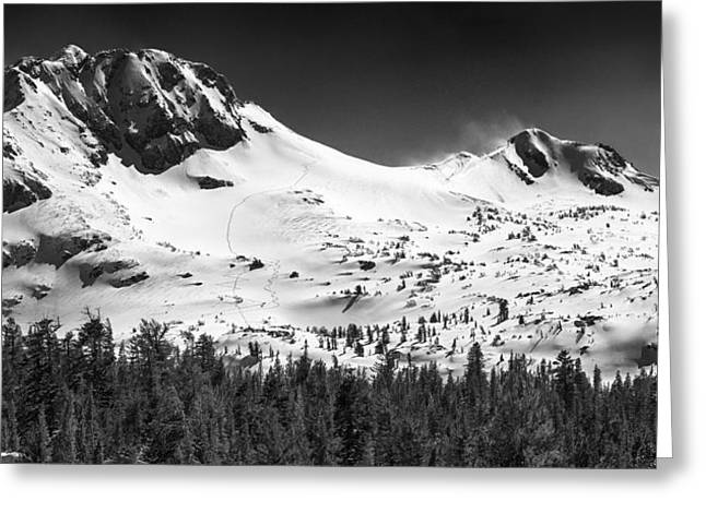 Round Top Mountain Greeting Card by A A