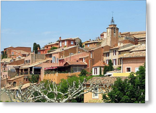 Greeting Card featuring the photograph Roussillon In Provence by Carla Parris