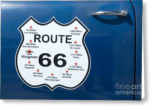Route 66 Arizona Greeting Card by Bob Christopher