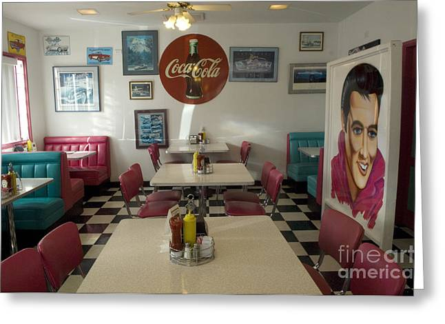 Route 66 Burgers Greeting Card by Bob Christopher