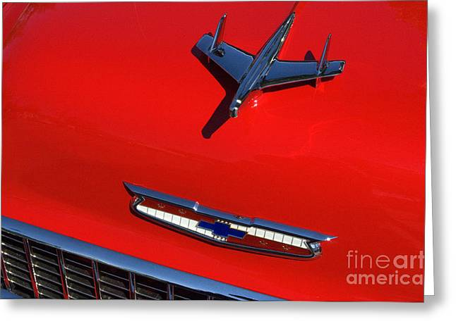 Route 66 Classic Cars 1 Greeting Card by Bob Christopher