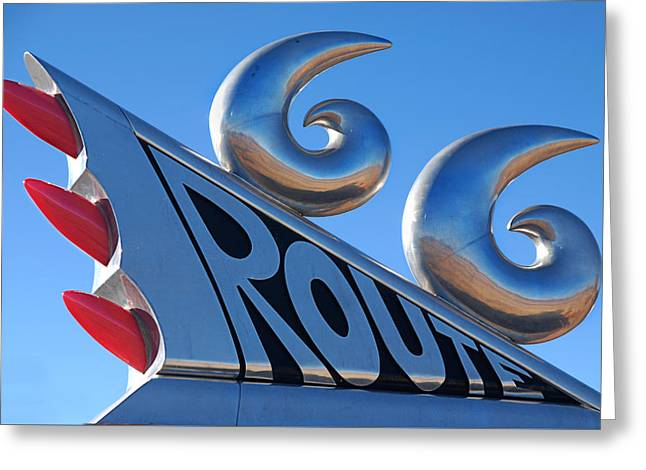 Route 66 Greeting Card by Melany Sarafis