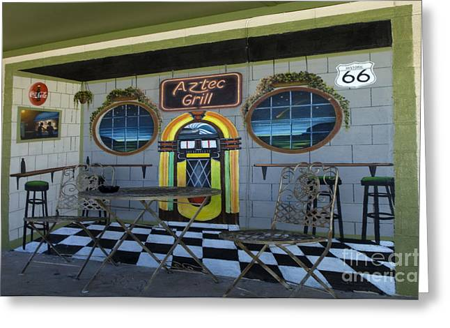 Route 66 Mural Seligman Greeting Card by Bob Christopher