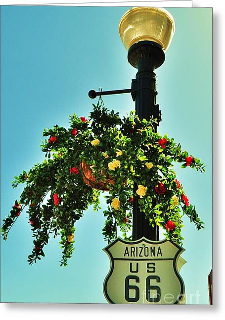 Route 66 Williams Arizona Greeting Card by George Sylvia