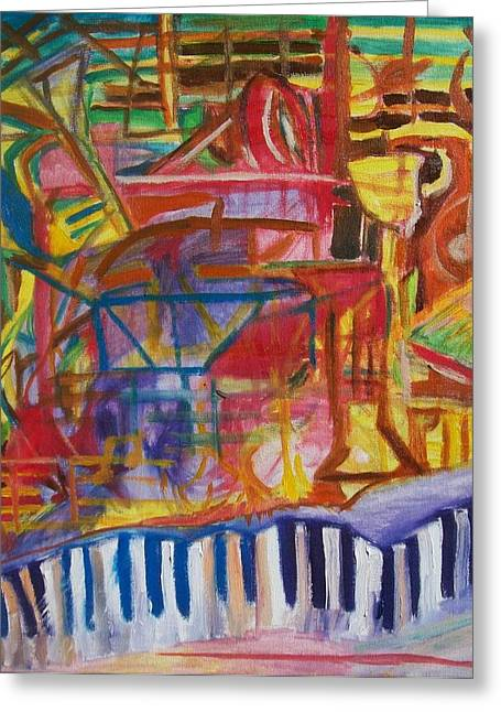 Routes Of Jazz Greeting Card by James Christiansen