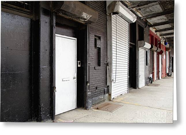 Row Of Loading Bay Doors Greeting Card by Inti St. Clair