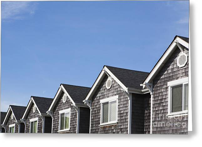 Row Of Townhouses Greeting Card