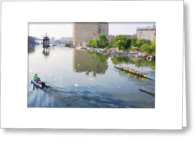 Rowers On The Milwaukee River Greeting Card