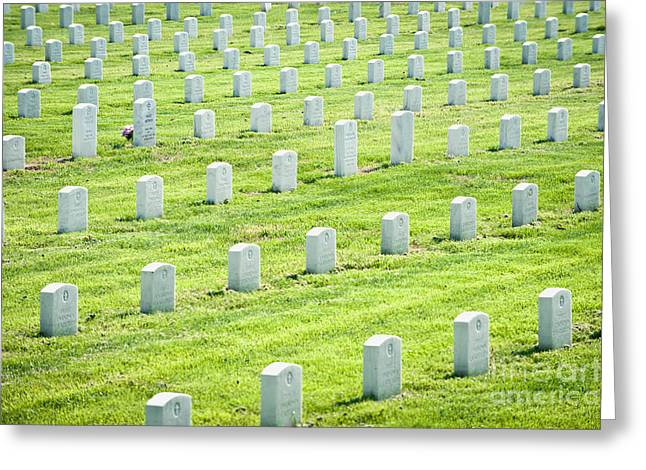 Rows Of War Graves Greeting Card