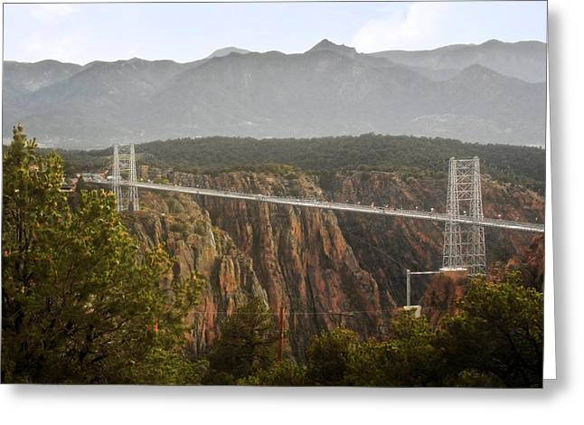 Royal Gorge Bridge Colorado - The World's Highest Suspension Bridge Greeting Card by Christine Till