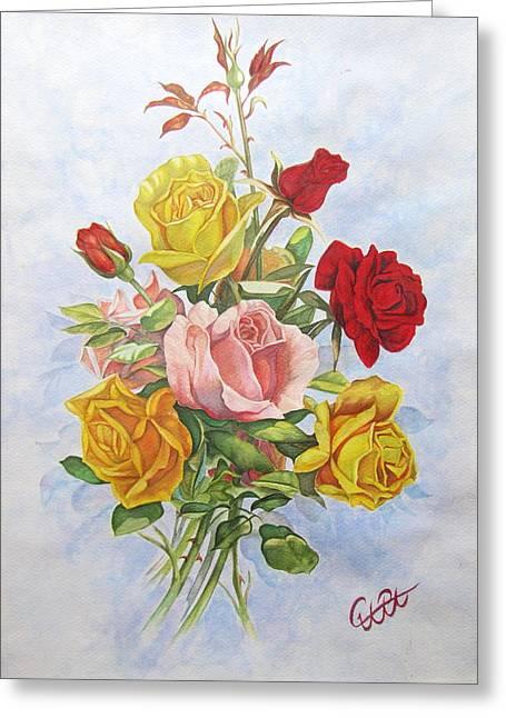 Roze1 Greeting Card by Samira Abbaszadeh charandabi
