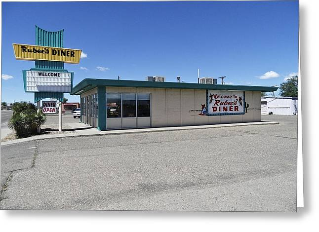 Rt 66 Rubee's Diner Greeting Card by Paul Plaine