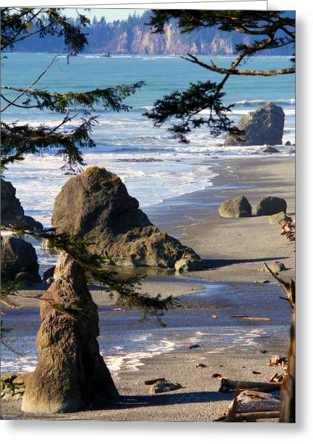 Greeting Card featuring the photograph Ruby Beach Iv by Jeanette C Landstrom