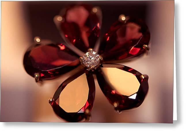 Ruby Ring. Spirit Of Treasure Greeting Card by Jenny Rainbow