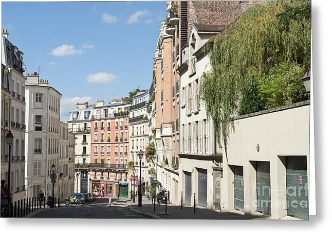 Rue Lepic Greeting Card by Fabrizio Ruggeri