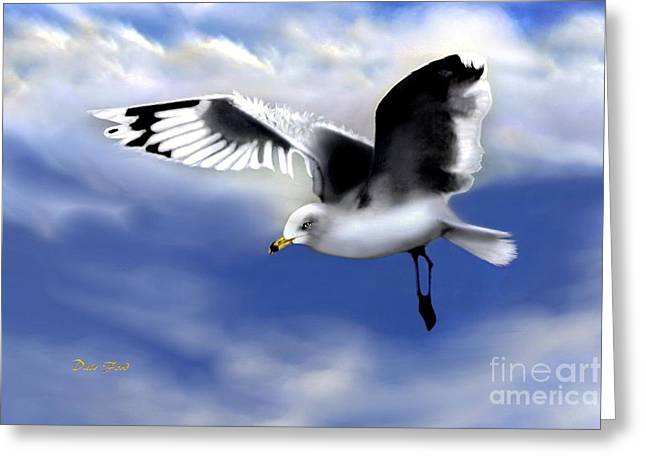 Ruffled Feathers Greeting Card by Dale   Ford