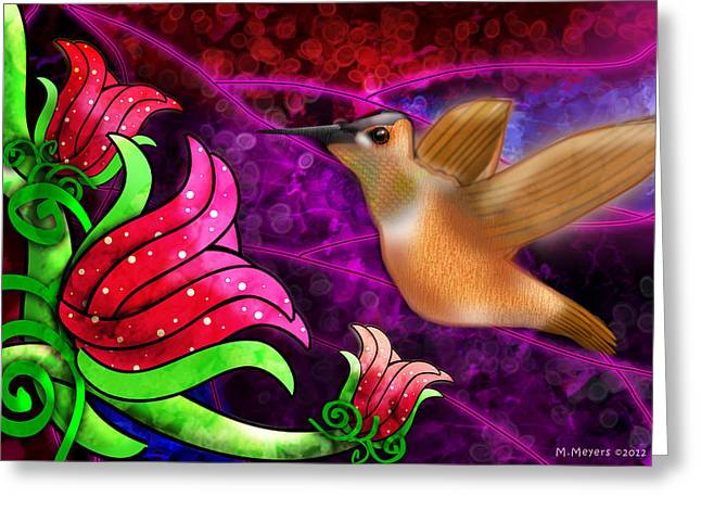 Rufous Dinner Guest Greeting Card by Melisa Meyers