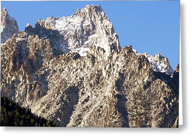 Rugged Mountain Peaks Greeting Card