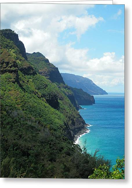 Rugged Napali Greeting Card by Rashelle Brown