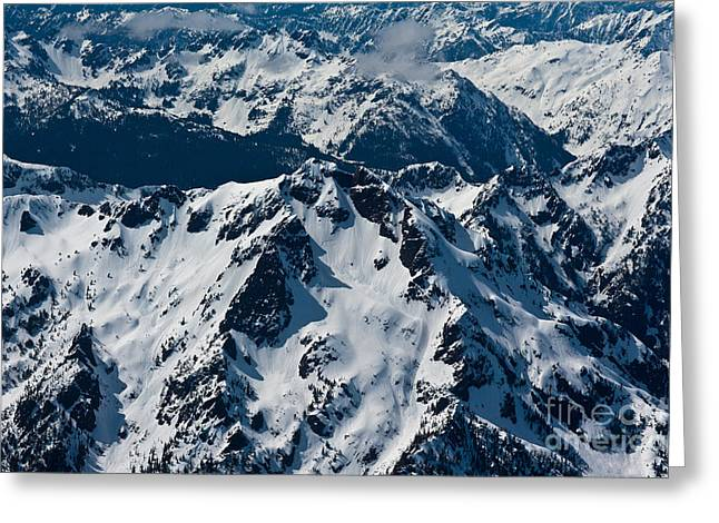 Rugged Olympic Mountains Greeting Card by Mike Reid